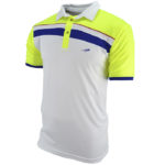 Polo Neon blue lateral