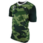 Uniform soccer green camouflage lateral