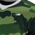 Uniform soccer green camouflage zoom