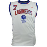 Uniforme basket laguneros blanco frente