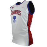 Uniforme basket laguneros blanco lateral