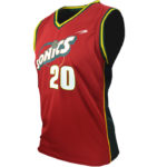Uniforme basket sonics lateral