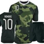 Uniforme soccer green camouflage