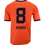 Uniforme soccer moon orange espalda