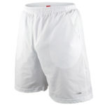 short tennis blanco con logo gris